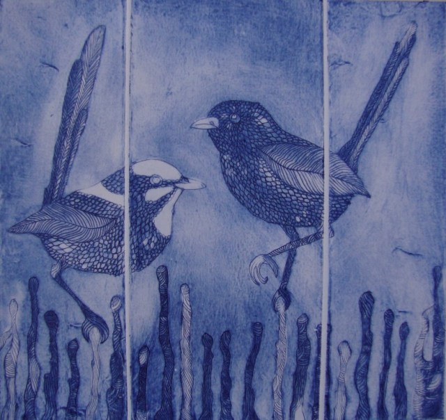 Drypoint Collograph by Jo Sculthorp